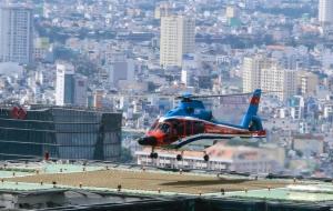 Sang chảnh hơn với trực thăng đón tiễn sân bay Tân Sơn Nhất
