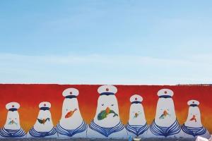 Sôi sục con đường bích họa rực rỡ sắc màu tại Lý Sơn